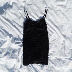 """KESNSIE PRETTY black """"Flapper"""" tassel dress"""